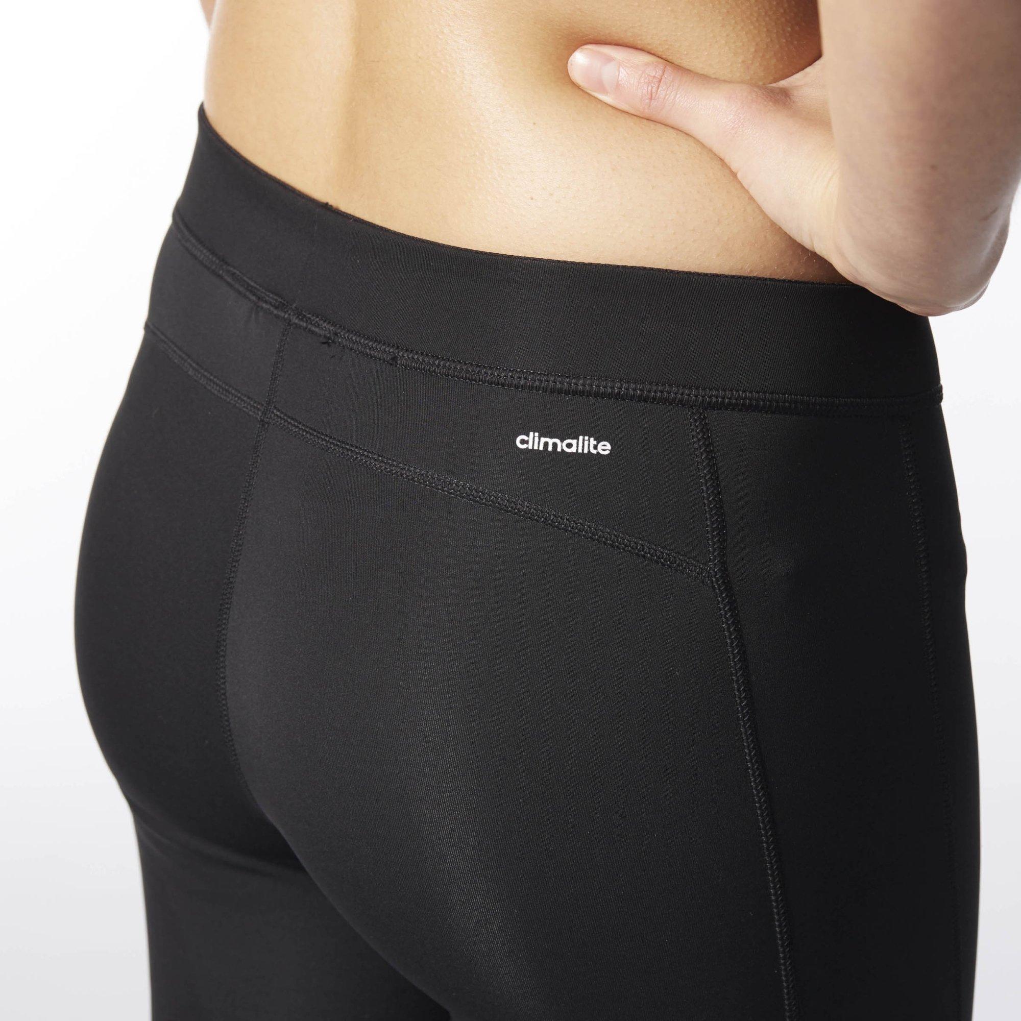 adidas Women's Techfit Capris, Black/Matte Silver, X-Small by adidas (Image #3)