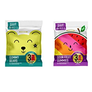 Project 7 Low Sugar Gummy Variety Pack - Keto Gummies with 3G Sugar, 8 Net Carbs & Low Calories - Contains 8 Bags of both Sour & Original