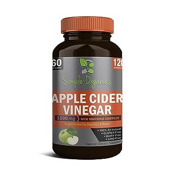 Capsulas de vinagre de manzana y aloe vera para adelgazar