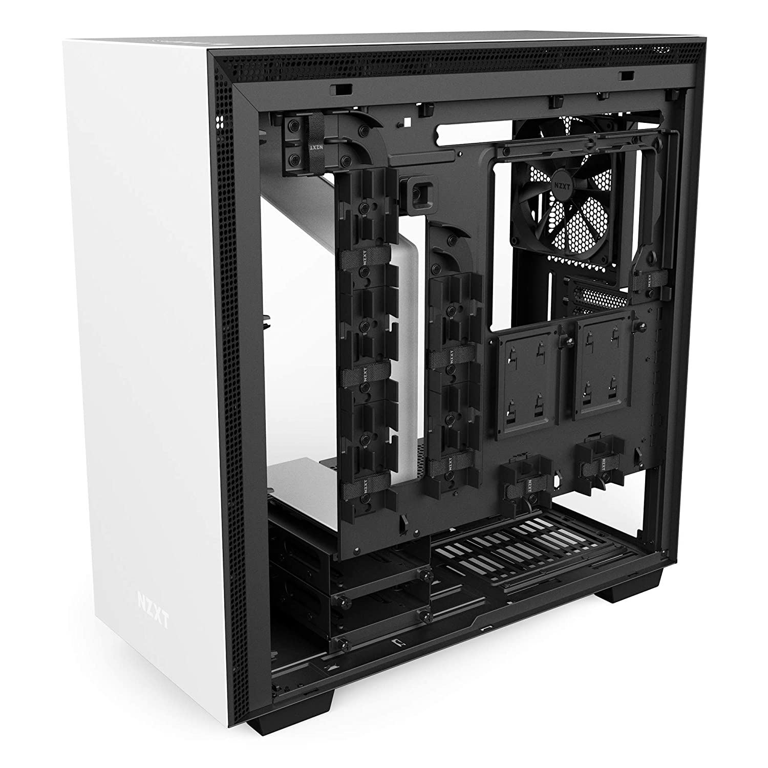 Water-Cooling Ready Enhanced Cable Management System White/Black ...
