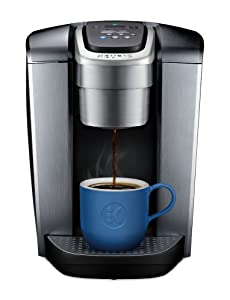 K-Elite Single Serve Coffee Maker - Brushed Silver