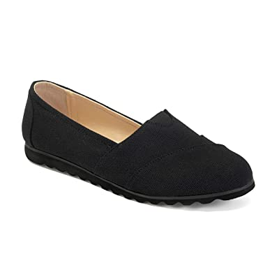 ComeShun Womens Shoes Canvas Flats Casual Loafers Comfort Slip On Sneakers: Shoes