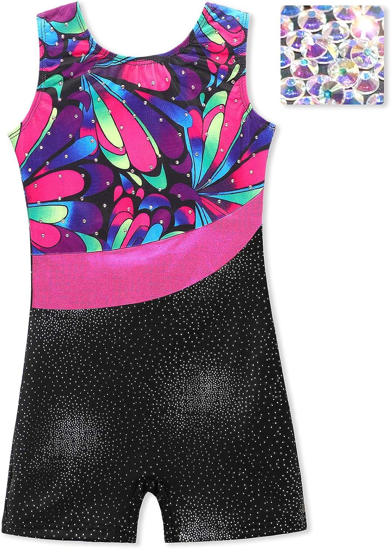 Leotards for Girls Gymnastics Ballet Dance Hot Pink Rainbow Stripes Ethnic Navy