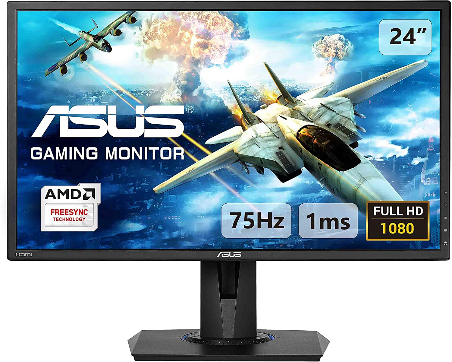 ASUS VG100H 100 Inch FHD (100 x 100) Gaming Monitor, 10 ms, Up to 10 Hz,  HDMI, D-Sub, Super Narrow Bezel, FreeSync via HDMI, Low Blue Light, Flicker