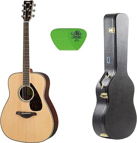 Yamaha fg830 Natural Folk Guitarra w/carcasa rígida funda para ...