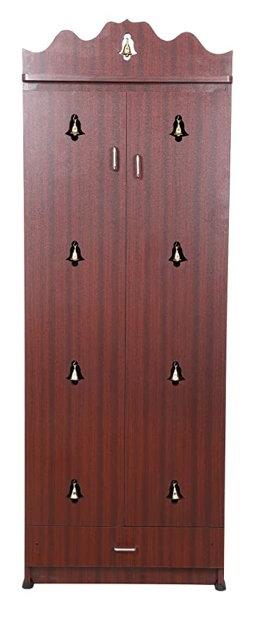 Ordinaire Generic Hudson Mark Pooja Cabinet/Pooja Room/Poojacupboard In Rosewood Color