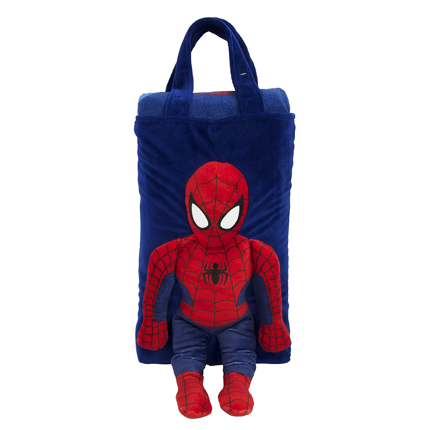 Marvel Spiderman Snuggle Pillow Tote includes blanket set Jay Franco and Sons JF16034WCD