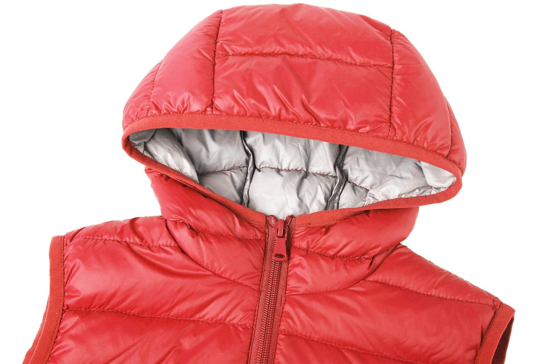 911b389317b49 Wantdo Girls Packable Puffer Down Vest Hooded Lightweight Sleeveless Jacket
