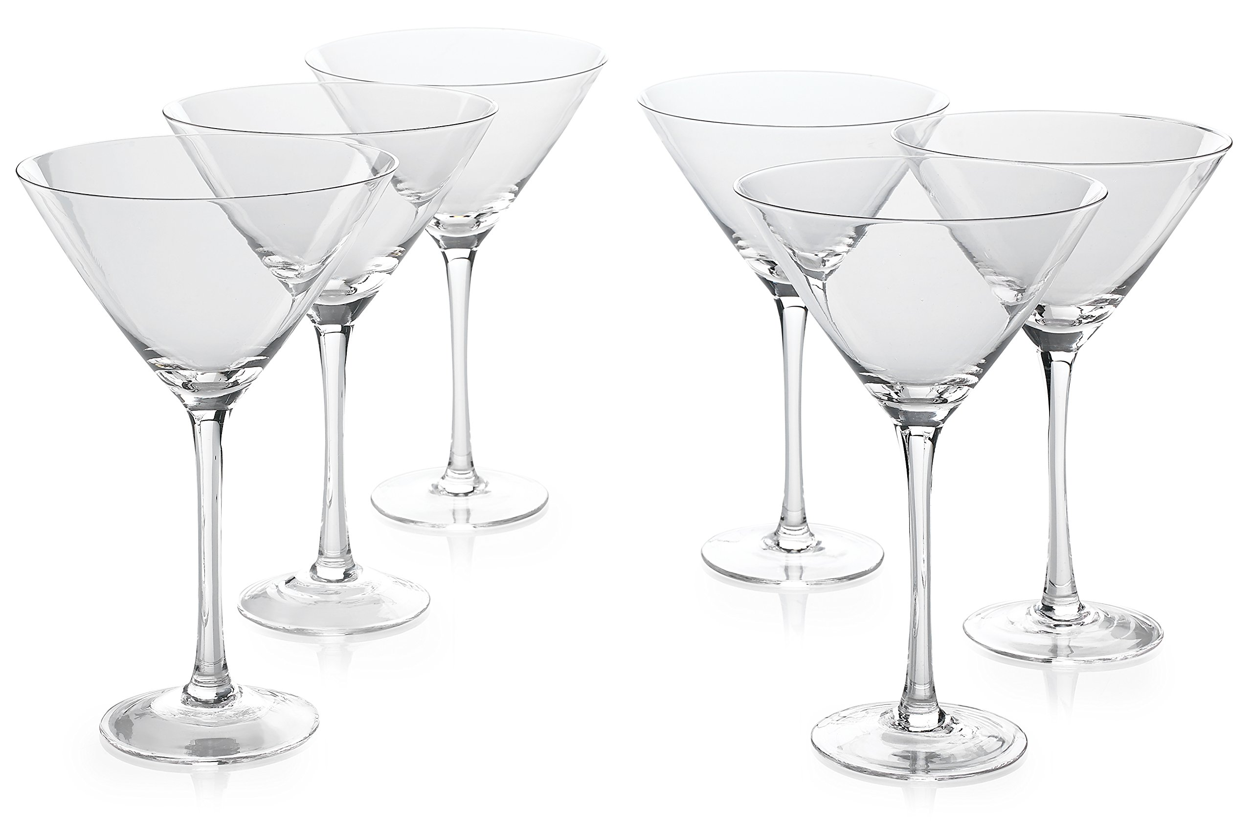 PARNOO Classic Premium Martini Glasses (18 Ounce) Set Of 6