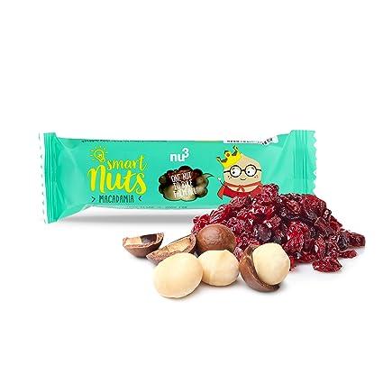 nu3 Barritas Smart Nuts | 15 x 35g barras de nueces con macadamia y arándanos |