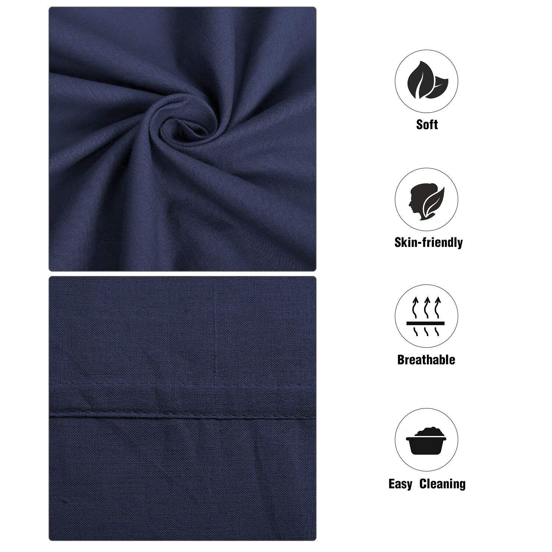 Unigear H/üttenschlafsack aus Baumwolle Reiseschlafsack mit Kissenfach und Doppeltem Rei/ßverschluss Schlafsack Inlett Inlay Sommerschlafsack d/ünn leicht /& Atmungsaktiv