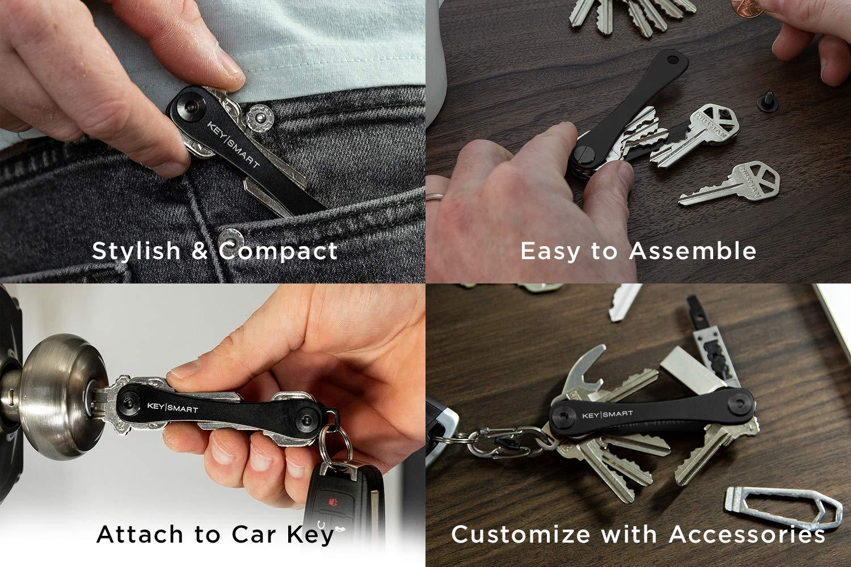 KeySmart Compacto llavero y organizador (2-14 llaves, pizarra)