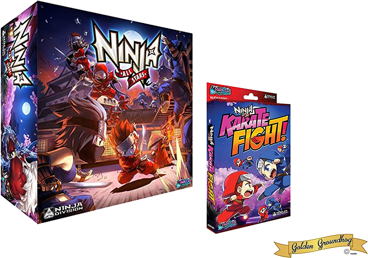 Ninja All Stars Board Game + Karate Fight Card Game - Bundle by Golden Groundhog!