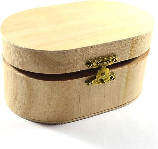 Générique Caja pequeña de Madera Simple Vintage para Pintar o Decorar Joyas, Organizador, Caja de Almacenamiento para Manualidades, Maquillaje, decoración de niños, Regalo: Amazon.es: Hogar