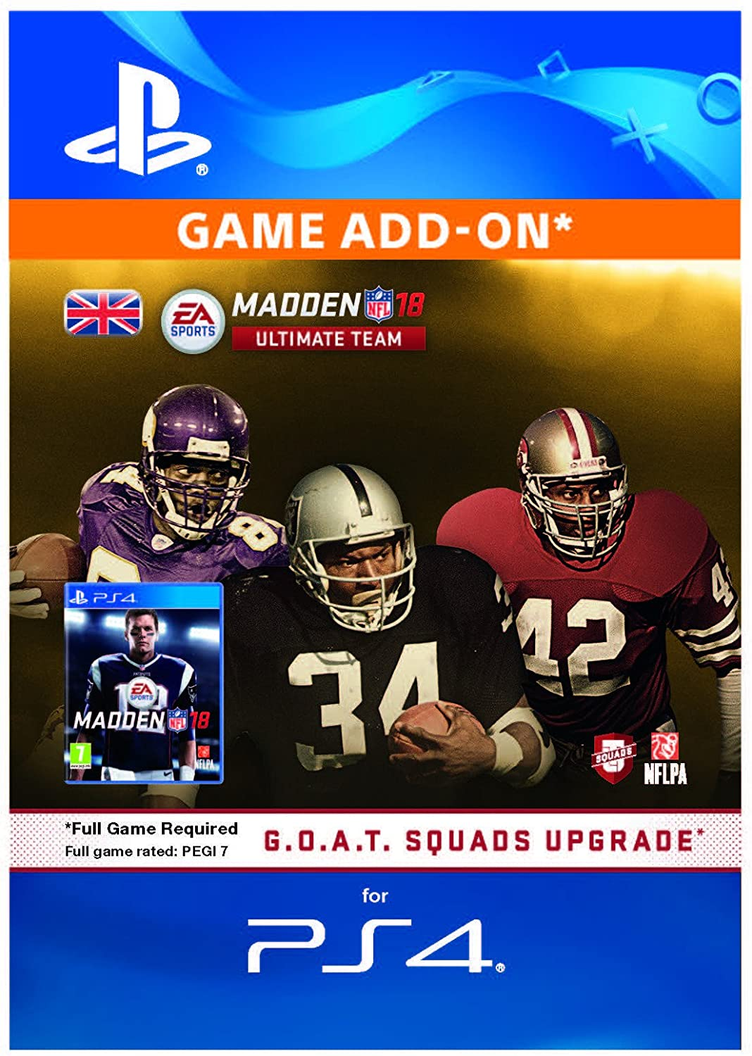 Madden NFL 18 G O A T -Edition Squads-Upgrade Edition DLC