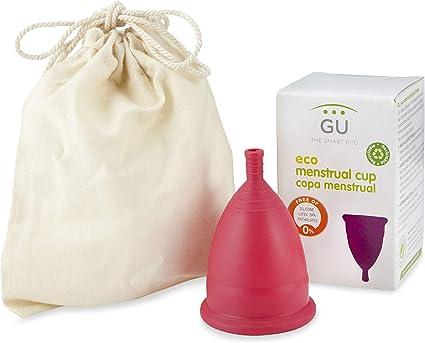 Copa Menstrual Ecológica - Talla M - Sistema antigoteo patentado- Fabricada en España -Con bolsa de algodón ecológico- Sin siliconas o alérgenos: Amazon.es: Belleza