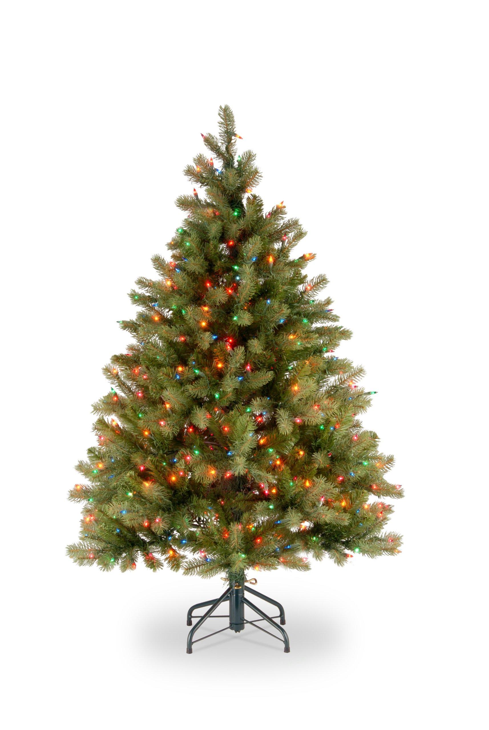 National Tree 4.5 Foot Downswept Douglas Fir Tree with 450 Multicolor Lights (PEDD4-325-45)
