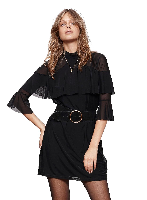 e5bb84dcb93 Minkpink Black Magic Ruffle Dress at Amazon Women s Clothing store
