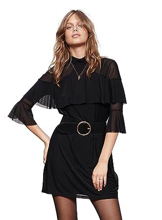 67da171dbb8 Minkpink Black Magic Ruffle Dress at Amazon Women s Clothing store