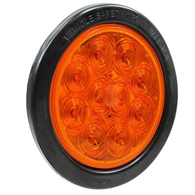 "Vehicle Safety Manufacturing 4454A Amber 4"" Round 10-Diode LED Lamp Kit (Amber Lens): Automotive"