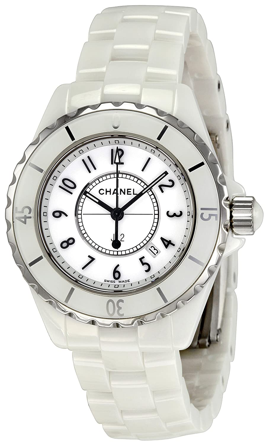 online watch white image diamond buy chronograph chanel brereton jewellers ceramic ladies watches