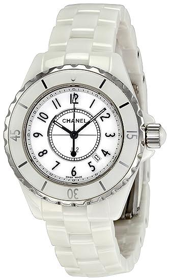 CHANEL J12 - Reloj (Reloj de pulsera, Cerámico, Acero, Blanco, Cerámico