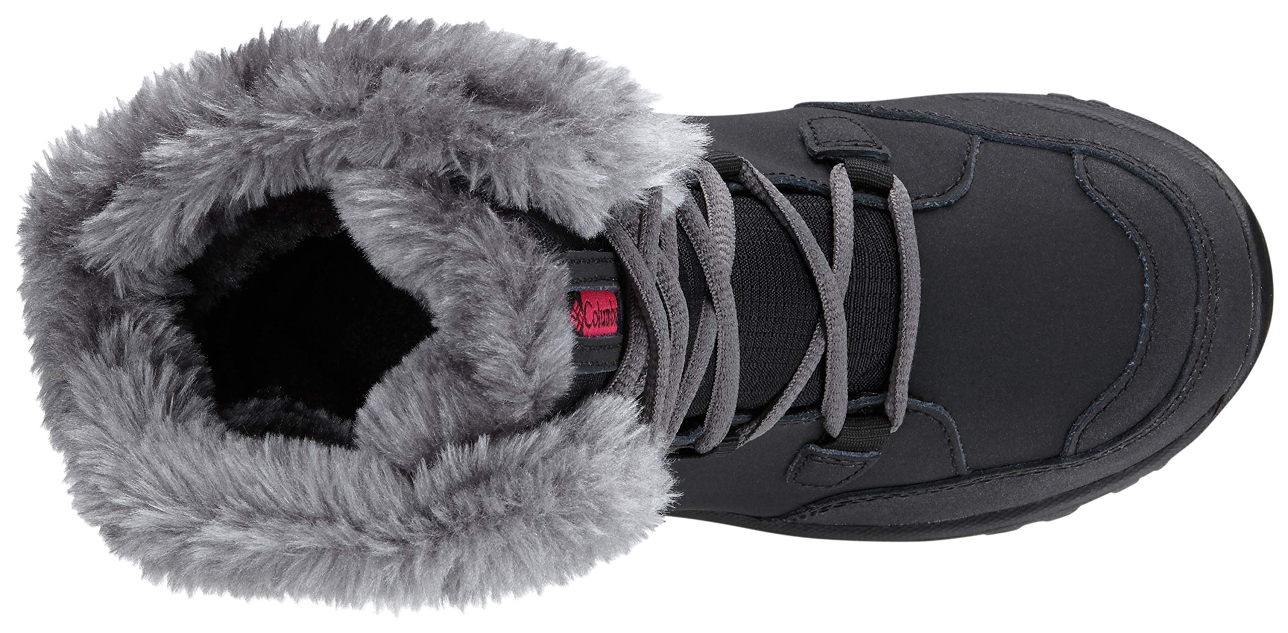 Columbia Youth Ice Maiden Lace Winter Boot (Little Kid/Big Kid), Black, 1 M US Little Kid by Columbia (Image #7)