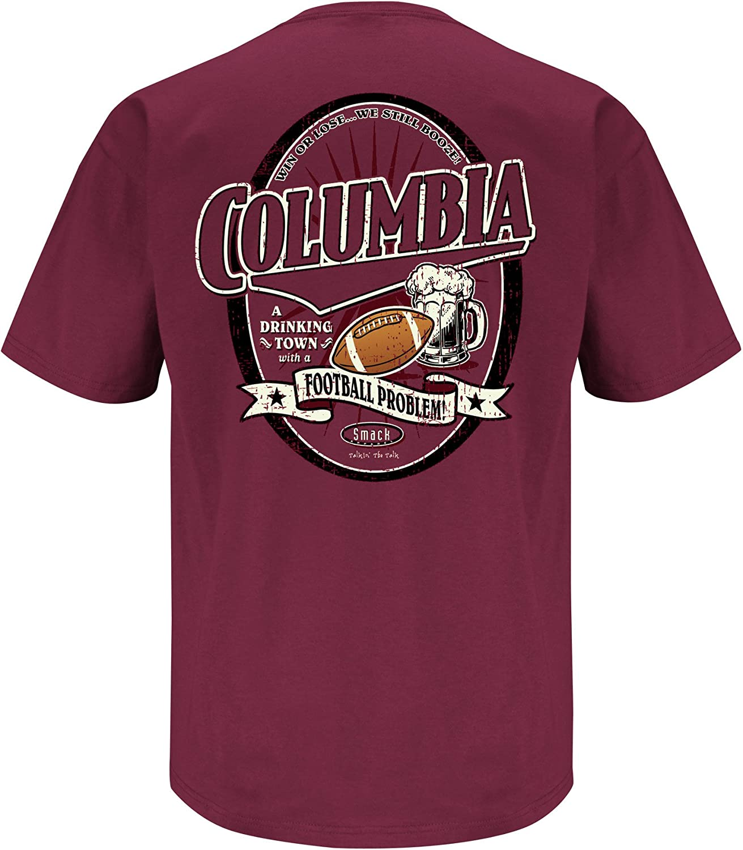 SM-5X Columbia Drinking Town with a Football Problem Garnet T-Shirt Smack Apparel South Carolina Football Fans