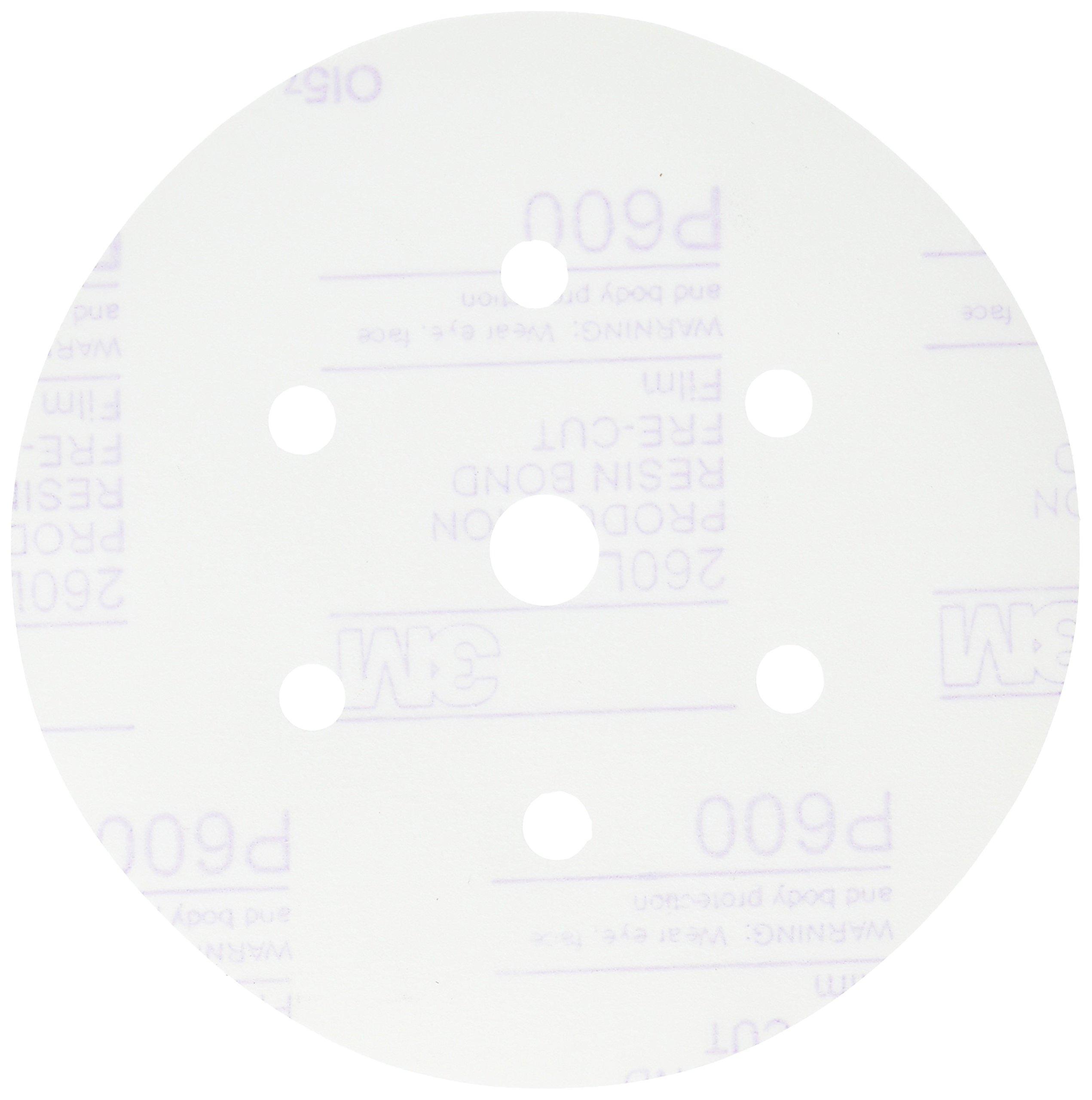 3M 01071 Hookit 6'' P600 Grit Dust-Free Finishing Film Disc
