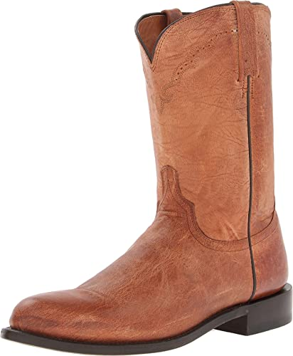 7e2526c65a2 Lucchese Classics Men's Shane-TN Mad Dog Goat Roper Riding Boot, Tan ...