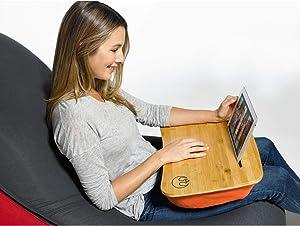 "Yogibo Set of 5 Orange Star Wars-Themed Bamboo Laptop Tray with Pillow 18.5"""