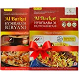 AL BARKAT 1 x Hyderabadi Chicken and Mutton Biryani 285 g Non-Veg Combo Pack of 2