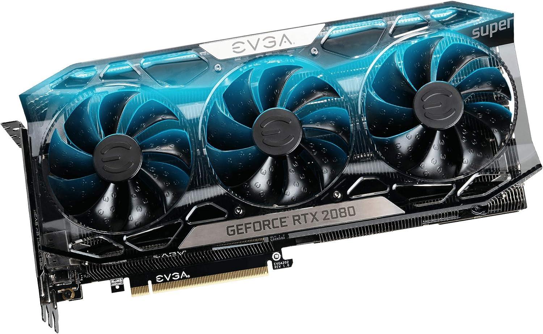 EVGA GeForce RTX 2080 SUPER FTW3 ULTRA, OVERCLOCKED, 2.75 Slot Extreme Cool Triple + iCX2, 65C Gaming, RGB, Metal Backplate, 08G-P4-3287-KR, 8GB GDDR6