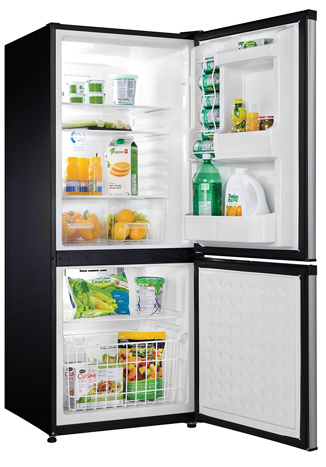 Danby 9.2 Cubic Feet Refrigerator Black Stainless Steel Look-Estar ...
