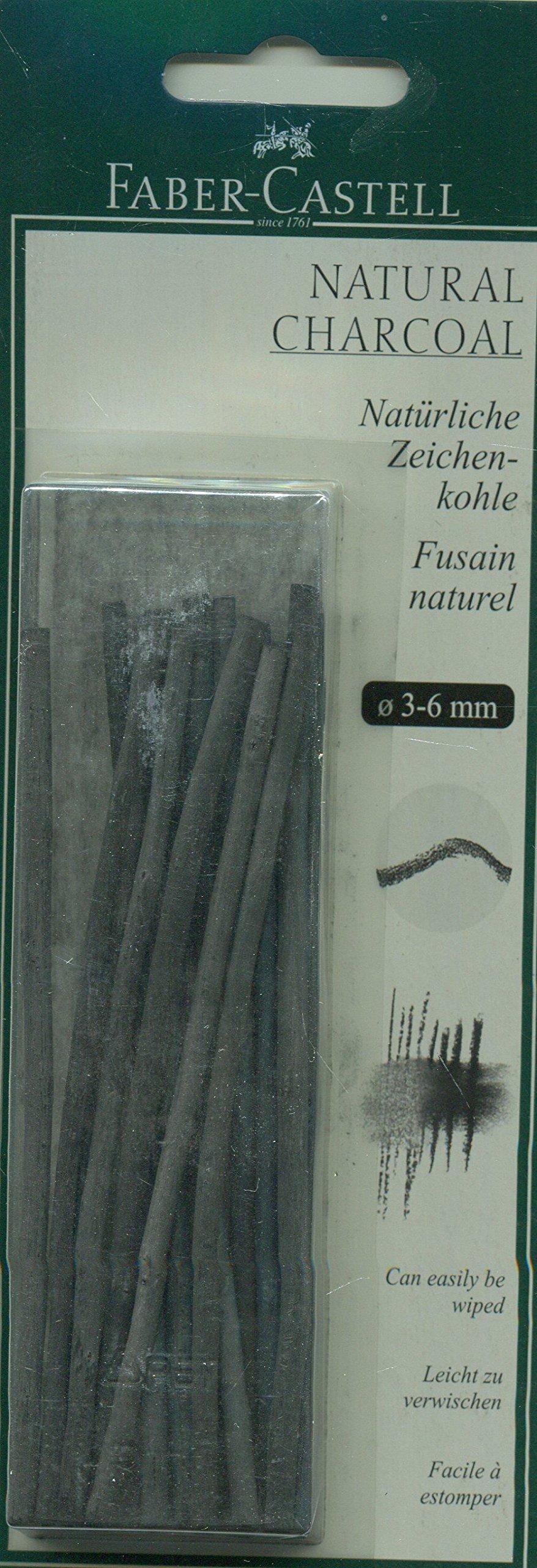 Faber-castell Pitt 3-6mm Natural Charcoal Sticks (pack Of 20)