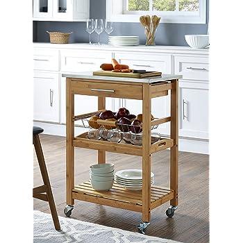 Amazon Com Linon Kitchen Island Granite Top Kitchen
