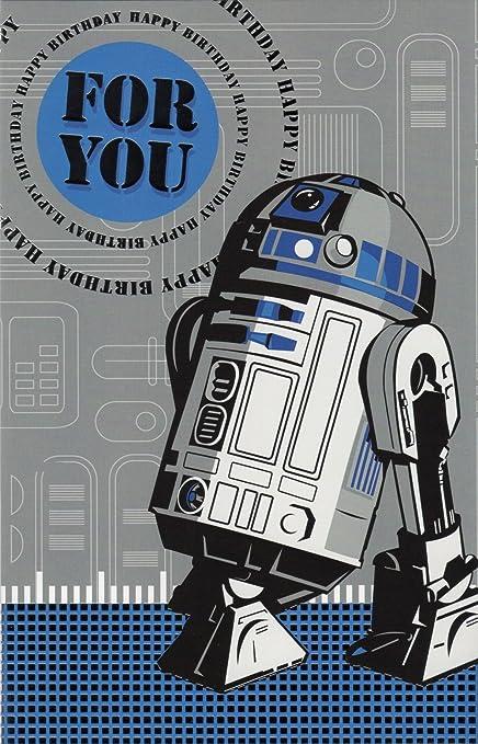 Producto oficial de R2D2 Droid tarjeta de cumpleaños Star ...