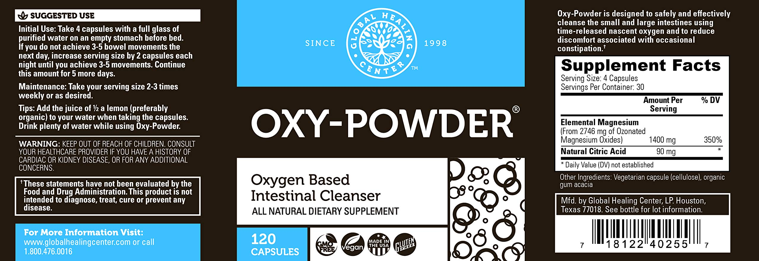 Global Healing Center Oxy-Powder Oxygen Based Safe and Natural ...