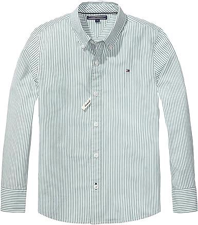 Tommy Hilfiger - Camisa - para niño verde 14 años: Amazon.es: Ropa y accesorios
