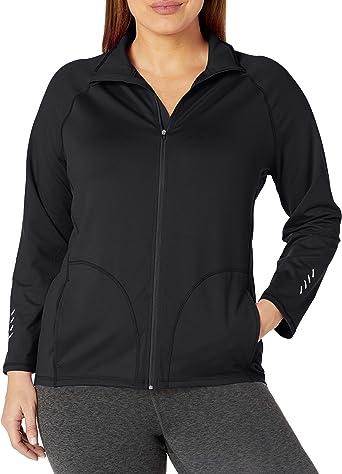 Just My Size Women/'s Plus Size Lightweight V-Neck Tunic 2X Black
