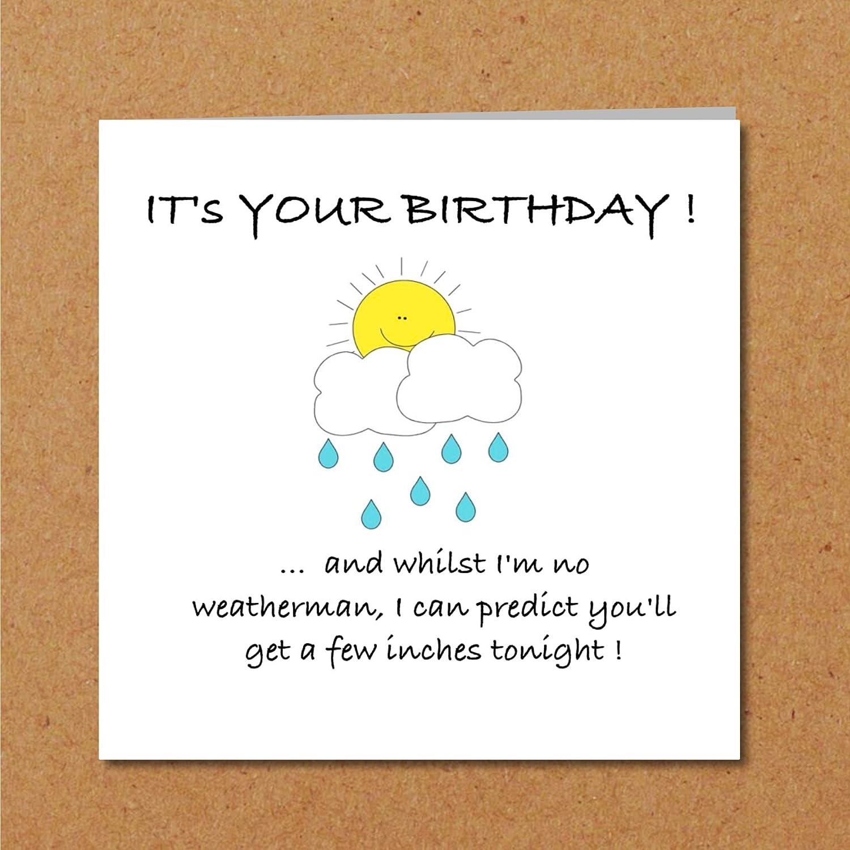 Rude Birthday card for girlfriend wife female friend crude lewd but funny