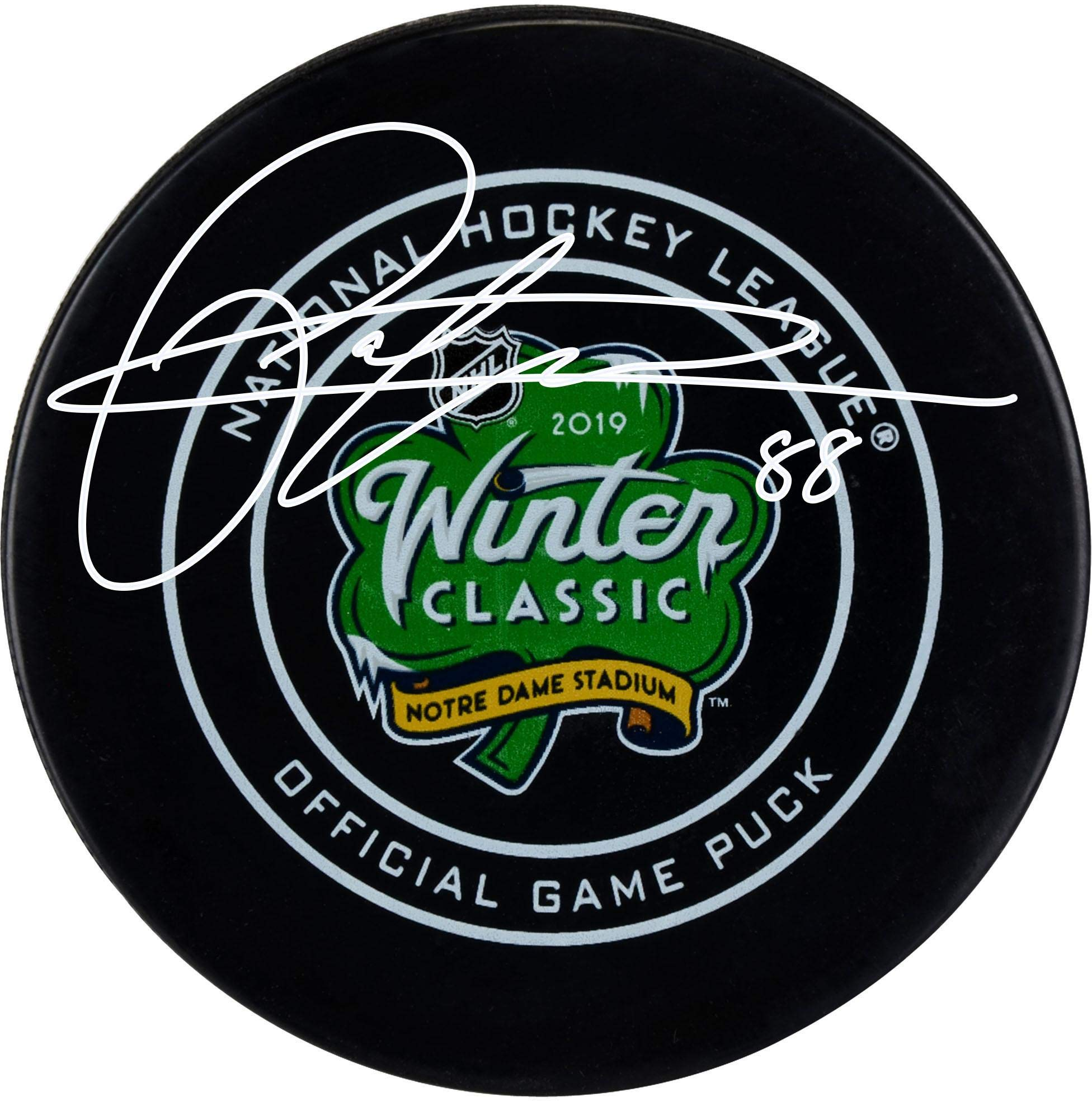 Patrick Kane Chicago Blackhawks Autographed 2019 Winter Classic Official Game Puck Fanatics Authentic Certified