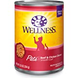 Wellness Complete Health Natural Grain Free Wet Canned Cat Food Pate Recipe Beef & Chicken Pate