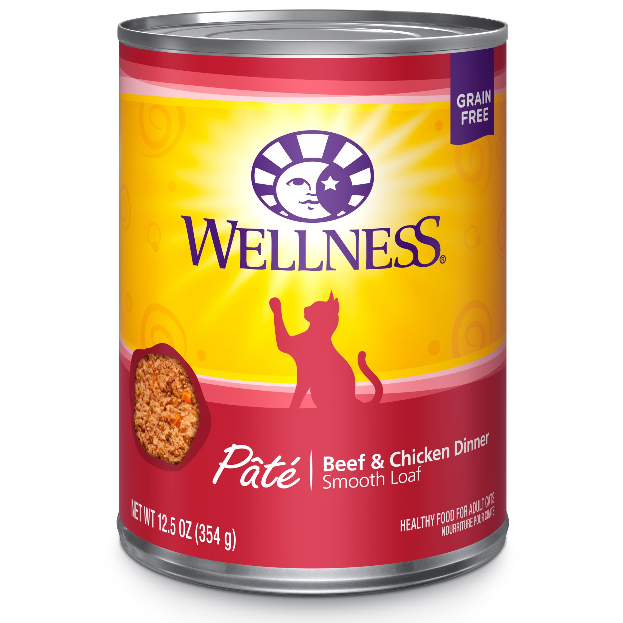 Wellness Natural Wet Canned Cat Food, Pack Of 12 by Wellness Natural Pet Food