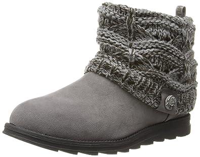 Muk Luks Women's Patti Cable Cuff Boot, Grey, ...