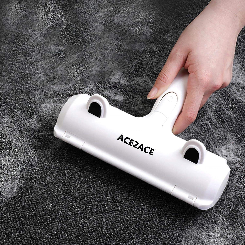 carpet roller rolling up pet hair off of carpet to get stair carpet clean.