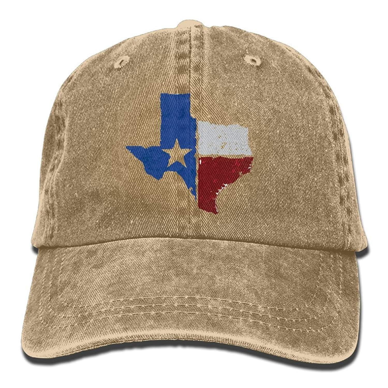 JTRVW Cowboy Hats Texas Flag Map Unisex Adjustable Baseball Caps Denim Hats Cowboy Sport Outdoor