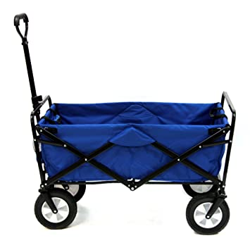Mac Sports Collapsible Folding Outdoor Utility Wagon Blue Amazon