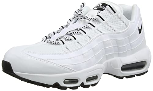 cheap for discount 453d8 3fbb9 Nike Air Max 95, Scarpe da Ginnastica Uomo, Bianco (White Black