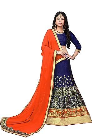 8b92fc7883 Women's Semi Stitched Raw Silk Weaving Lehenga Choli for Weddings,  Reception, Marriage